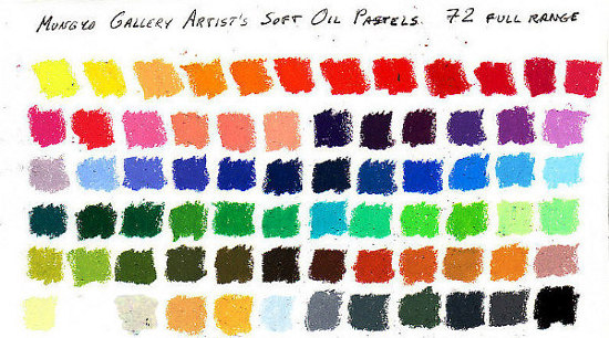 color chart 72 Gallery Artist oil pastels