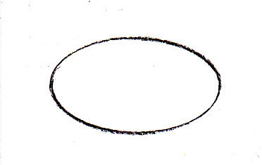 Simple oval drawn with a template