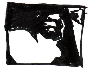 Cat Notan 1, black on white.