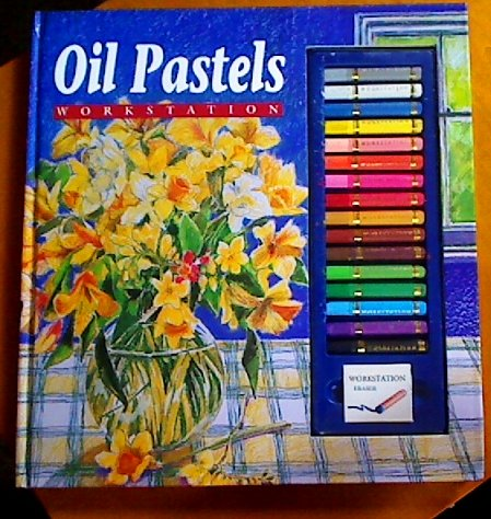 Oil Pastels Workstation book cover showing the pastels included.