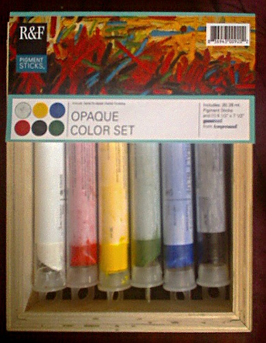 R and F Pigment Sticks 6 color Opaque Set